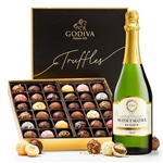 Chateau Montmore Champagne and 36 piece box of Godiva Chocolates