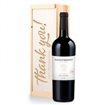 Tanner Ridge California Chardonnay Wine in a Personalized Thank You Wooden Crate
