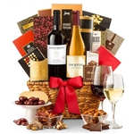 Extravagant Wine and Gourmet Basket - Impress anyone with this wine basket