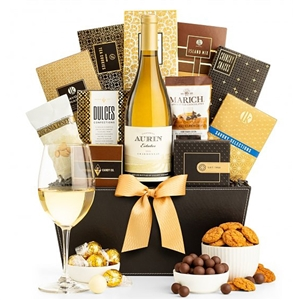 California Chardonnay Wine Gourmet Basket - Shipped Wine Gift Baskets Wine Gifts