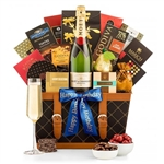 Basket of Happy Birthday Champagne - Celebrate a birthday in elegance