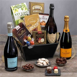 Your choice of 3 champagnes, chocolates and truffles.