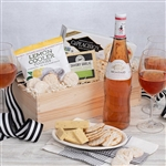 Rose Wine and Gourmet Treats Gift Crate