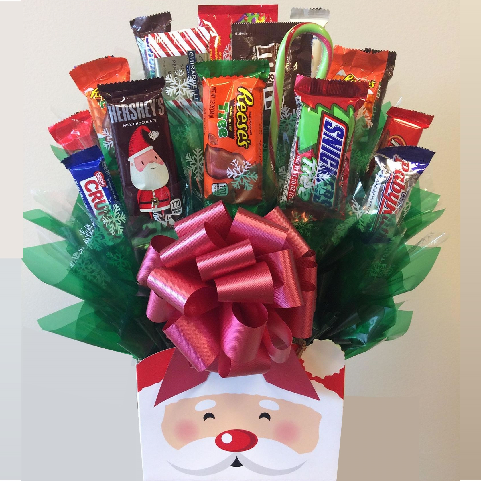 santa candy gift bouquet - Christmas Candy Bouquet