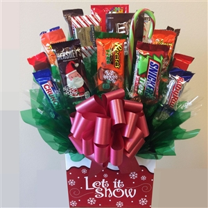 Let It Snow Holiday Candy Bouquet