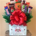 Merry Christmas Candy Gift Box Bouquet