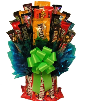 Skittles and More Candy Bouquet