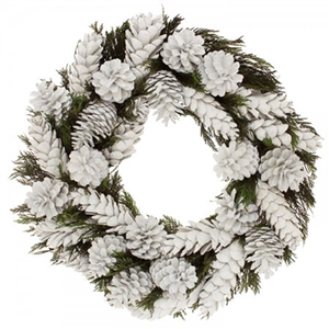 A grapevine holiday wreath with black and white buffalo checkered bow