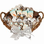 Huge willow basket Filled with Belgian Chocolate Dipped treats.