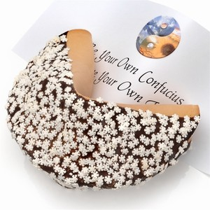 Snowflake Winter Giant Fortune Cookie - Includes your message inside as a 1 ft long fortune. Giant Fortune Cookie is dipped in your choice of chocolate and adorned with tasty holiday sprinkles.