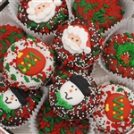 Oreos dipped in delicious Belgian Chocolates and decorated with assorted Christmas toppings.