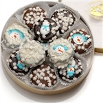 Winter Edition Oreo Cookies Tin - Oreos dipped in delicious Belgian Chocolate and decorated with assorted designer toppings.