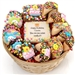 Personalized Cookie Gift Basket - This gift features some of Lady Fortunes most popular gourmet goodies with your custom message.