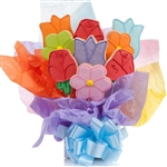 Lovely Flowers Cookie Bouquet - Choose our 5, 7, 9 or 12 piece arrangement of Flower Sugar Cookies.