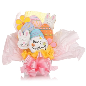 Easter Cookie Bouquet - Choose our 5, 7, 9 or 12 piece arrangement of Easter Sugar Cookies.
