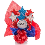 Star Shaped Cookie Bouquet with Personalized Text - Choose our 5, 7, 9 or 12 piece arrangement of Decorated Sugar Cookies.