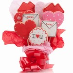 Lots of Love Cookie Bouquet - Choose our 5, 7, 9 or 12 piece arrangement of Hear Cookies.