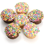 Confetti Belgian Chocolate Gourmet Cupcakes in your choice of flavors and icing.