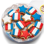 Mini Patriotic Shortbread Cookies