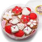 Lots of Love Mini Iced Shortbread Cookies in shapes of love letters, hearts, and more