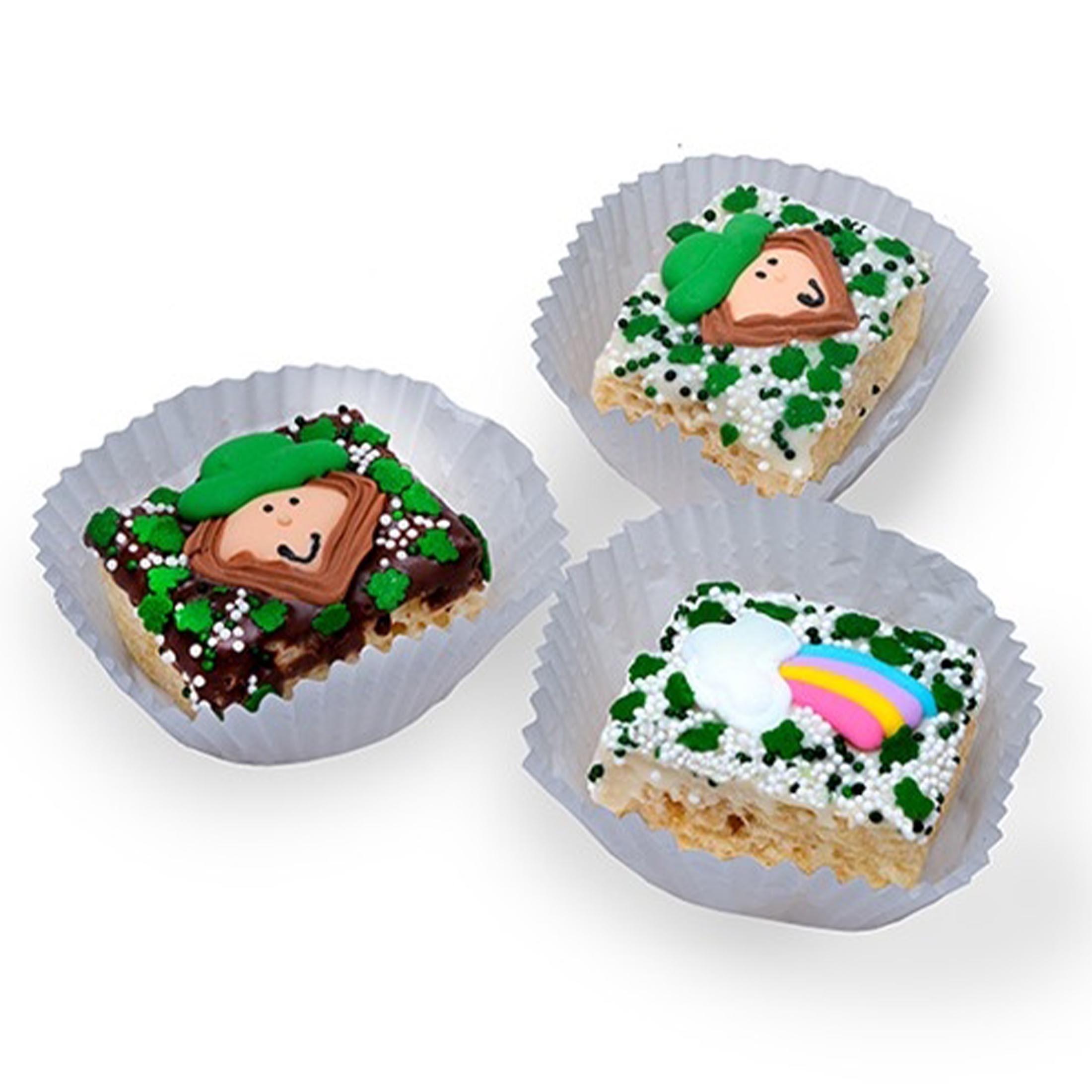 St. Patrick's Chocolate Dipped Mini Crispy Rice Bars