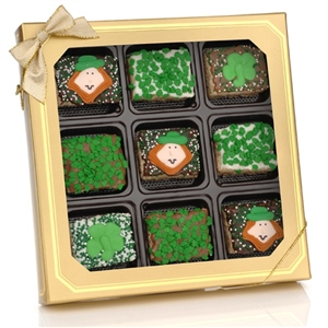 St. Paddy's Day Chocolate Dipped Mini Crispy Rice Bar - Oreo Cookies dipped in a variety of high quality Belgian Chocolates.