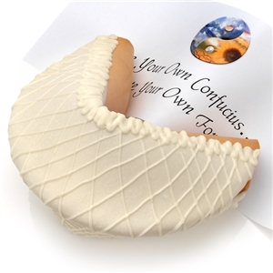 White Chocolate Giant Fortune Cookie with Personalized Fortune