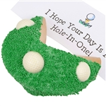 Golf Giant Fortune Cookie - Decorated in a golf theme with a fortune personalized message inside.