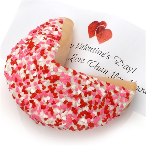 Heart Sprinkles Giant Fortune Cookie with Personalized Fortune