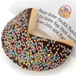 Giant Confetti Easter Egg Fortune Cookie with Personalized Fortune