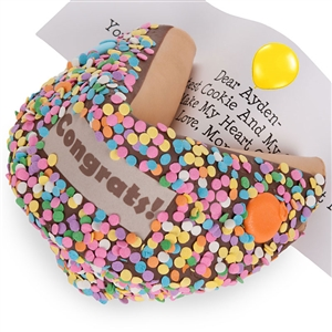 Congrats Giant Fortune Cookie with Personalized Fortune TFCT6