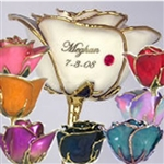Birthstone Roses - Choose Colors and Add Optional Personalization