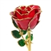 8 Inch Red Rose Preserved Forever, Trimmed in 24K Gold
