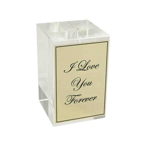 Crystal Rectangular Vase Stand with Optional Personalization - Add Optional Theme and Engraved Plate