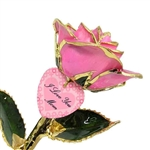 Mother's Day Rose with a Personalized Heart Charm