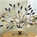 Engraved Family Tree Stand - with Gold Personalized Plate