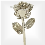 Long Stem Platinum Dipped Rose