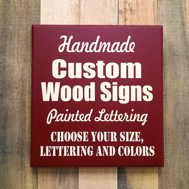 Attractive Custom Wood Sign | Hand Painted Custom Signs | Made to Order Signs UR48