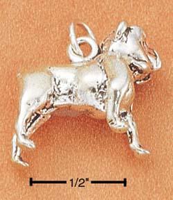 Bulldog Charm - Charms and Lockets Jewelry