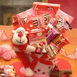 Monkey Love Valentines Day Gift Pail