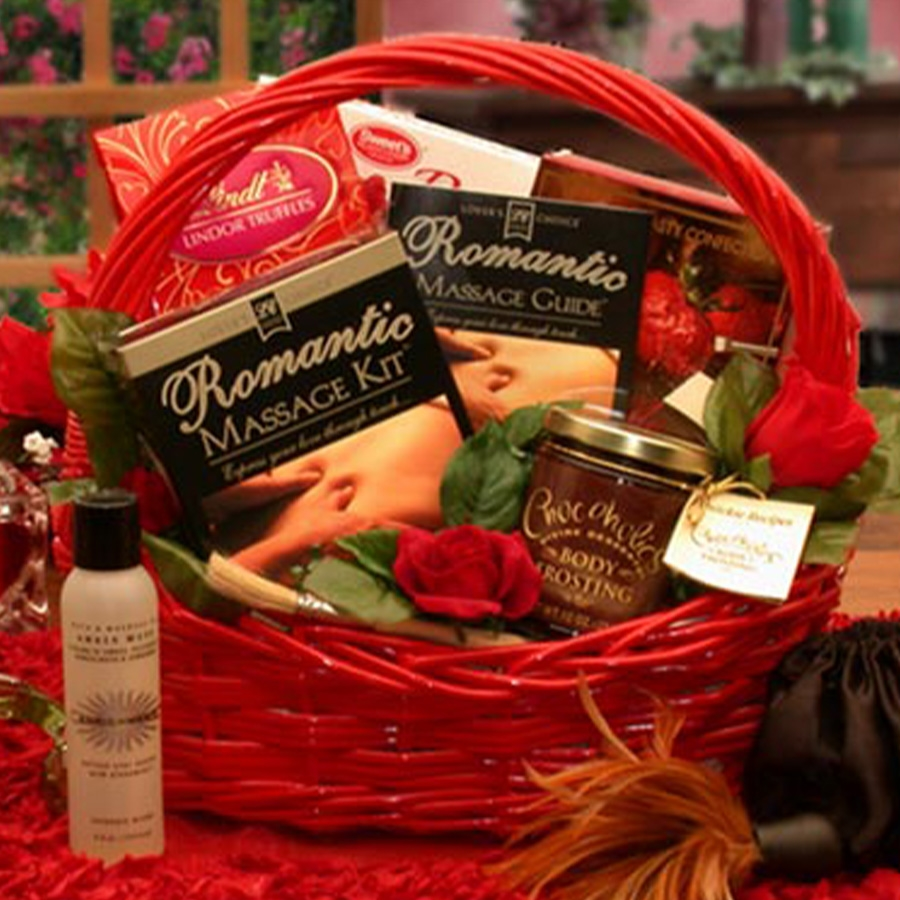 Image Romantic Massage Gift Basket
