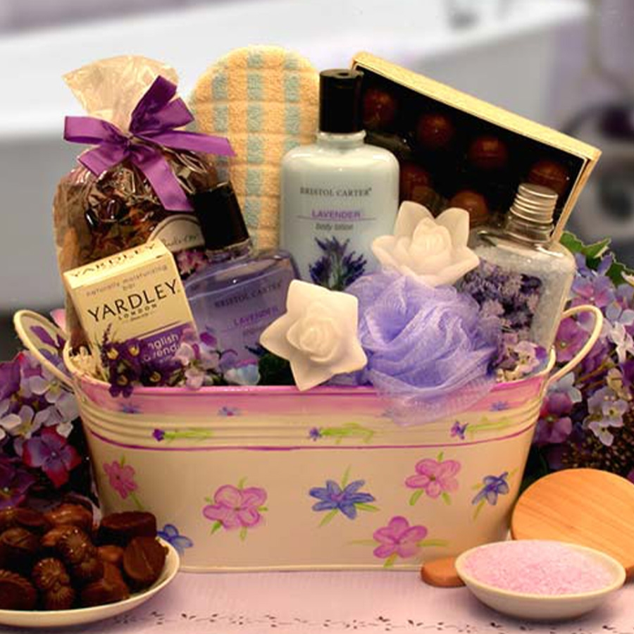 Tranquility Bath And Body Spa Gift Aromatherapy Baskets