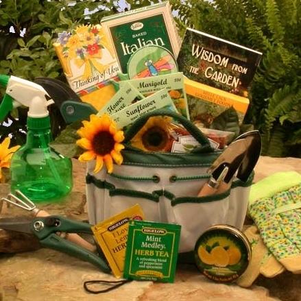 The Weekend Gardener Tote Garden Gift Basket Gift Baskets For Mom Gardening Gifts