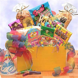 <b>Gift Box to Say Happy Birthday </b><br> Center Stage Birthday Basket </b><br>