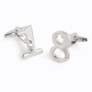 Personalized Numbers Cufflinks