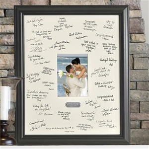 Wedding Wishes Signature Frame with Engraved Plate