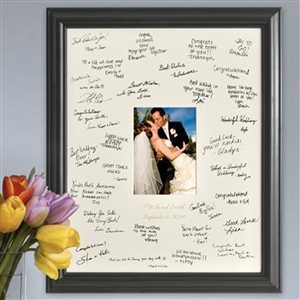 Laser Etched Wedding Wishes Signature Frame