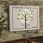 Personalized Family Tree Canvas Art