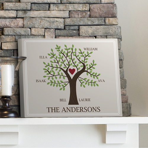 Your Family Tree Canvas Print Personalized Family Signs