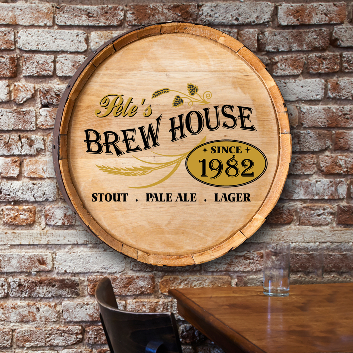Personalized Billiards Barrel Top Sign | Pub Signs | Arttowngifts.com